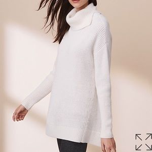 Lou & Grey white turtle neck with cutout back